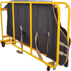 """Height: 3'6"""" (1030mm) Length: 6'6"""" (1980mm) at the base Width: 1'6"""" (450mm) Weight: 50 lbs  If you have two or three horses, the two blanket dryer is your ideal option. Why not share it with another local horse-owner and split the cost? It's fully portable.  Thermostatically controlled by 1.5KW heating element Complete with 12 feet of cable and plug to fit into a standard 110V power supply  --- AND MUCH MUCH MORE!! Visit www.horseblanketdriers.us for more information"""