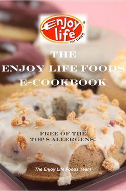Enjoy Life is an all allergy-free company which makes delicious chocolate and other products for those of us with food allergies/sensitivities.  Now they are releasing a FREE e-cookbook!  I can't wait to make so many good foods from here!