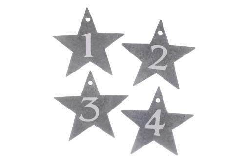 Etoiles zinc numérotées