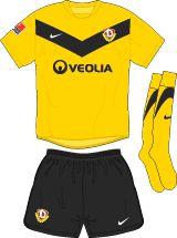 Dynamo Dresden home kit for 2011-12.