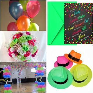 Neon Sweet Fifteen Theme #quinceanera