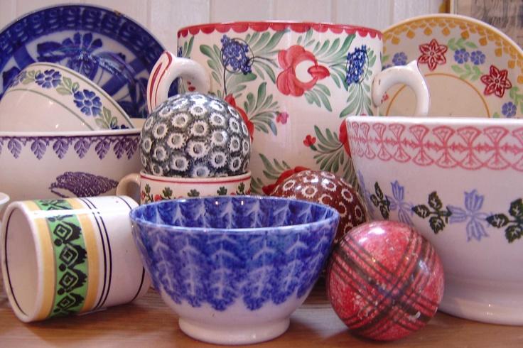 Antique Spongeware Pottery