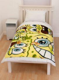 Spongebob Heads Fleece Blanket 120cm x 150cm