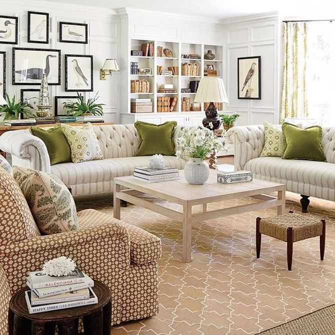 Madeline's Camel Brooke Cotton Carpet styled by Sarah Bartholomew design featured in Southern Living Magazine.