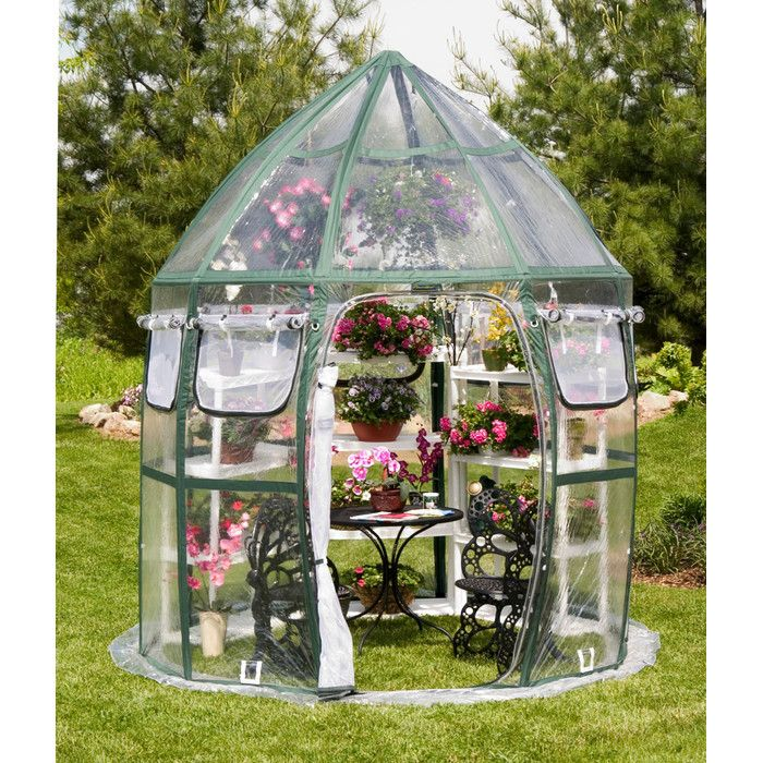 You'll love the Conservatory 8.5 Ft. W x 8.5 Ft. D PVC Greenhouse at Wayfair - Great Deals on all Outdoor  products with Free Shipping on most stuff, even the big stuff.