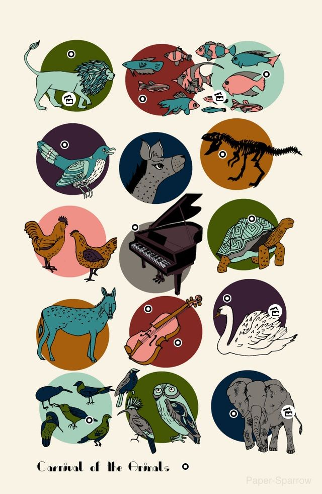 carnival of the animals on Pinterest | Aquarium, Music Lessons and ...