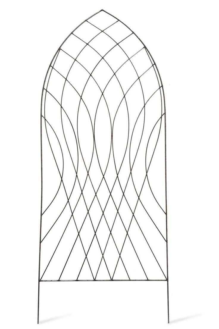 The barrington arch trellis in raw metal brings gothic styling to your garden as well as support for creeping plants