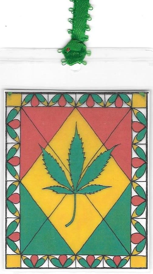Pot Leaf Bookmark