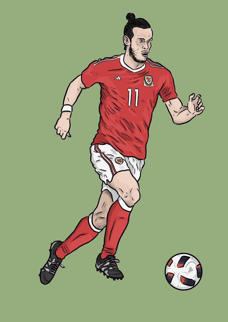 Gareth Bale Wales illustration   #daleillustration