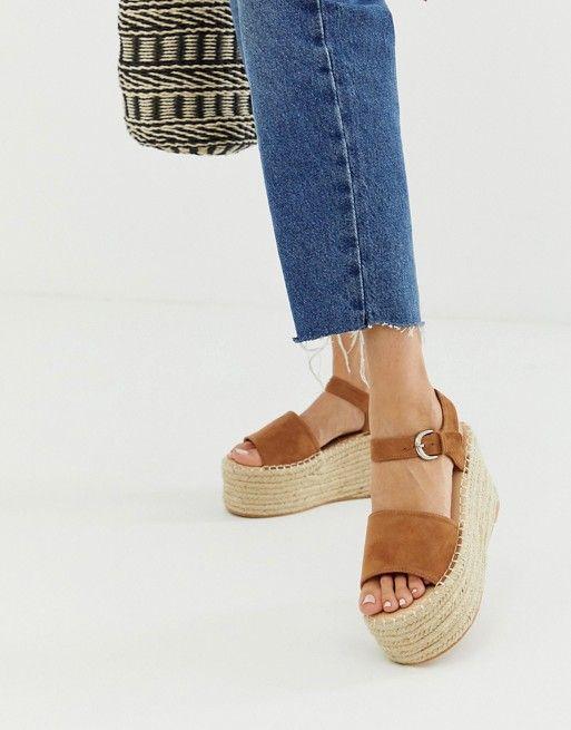 b29a4dddba Boohoo flatform espadrille sandals in tan in 2019 | Asos ...