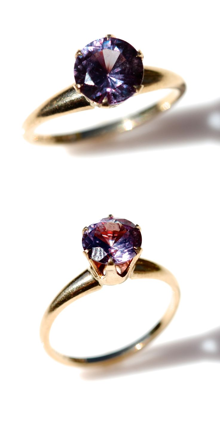 Color Changing Alexandrite Ring- my boyfriends birthstone... Engagement ring??? Yassssss!!!!