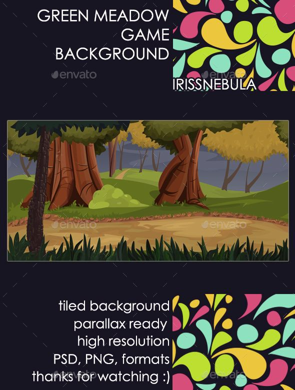 Green Meadow Game Background - #Backgrounds #Game #Assets Download here: https://graphicriver.net/item/green-meadow-game-background/14752213?ref=alena994
