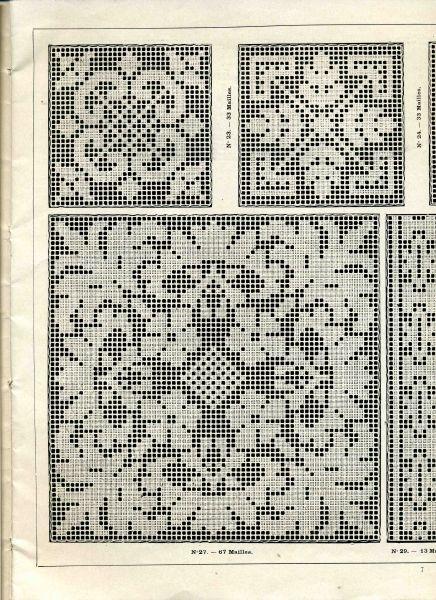 """Филейные узоры. 1908 год. Книга - 282329 - Страна вязания """"Ярния"""""""