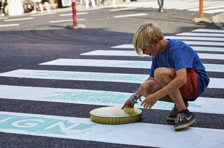 Crosswalk in Kolding, Denmark 2016 #kolding #citymarketing #designweekkolding #Gruerrila #designweek