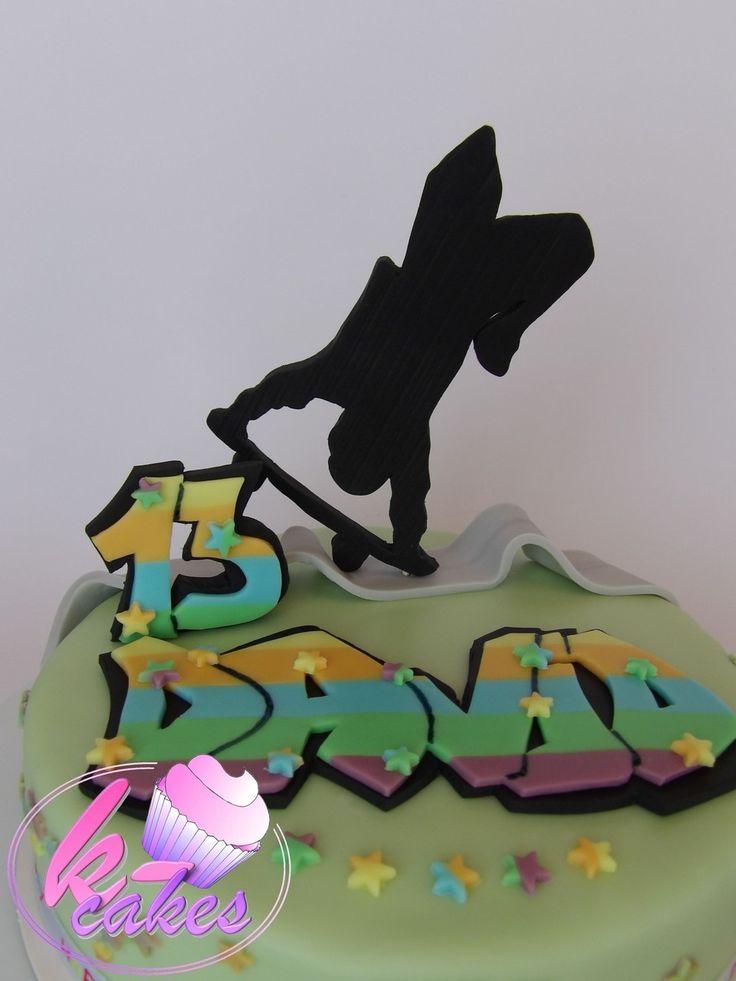 Birthday cake, Skateboard, Graffiti https://www.facebook.com/pages/K-cakes/192909224241813?ref=hl