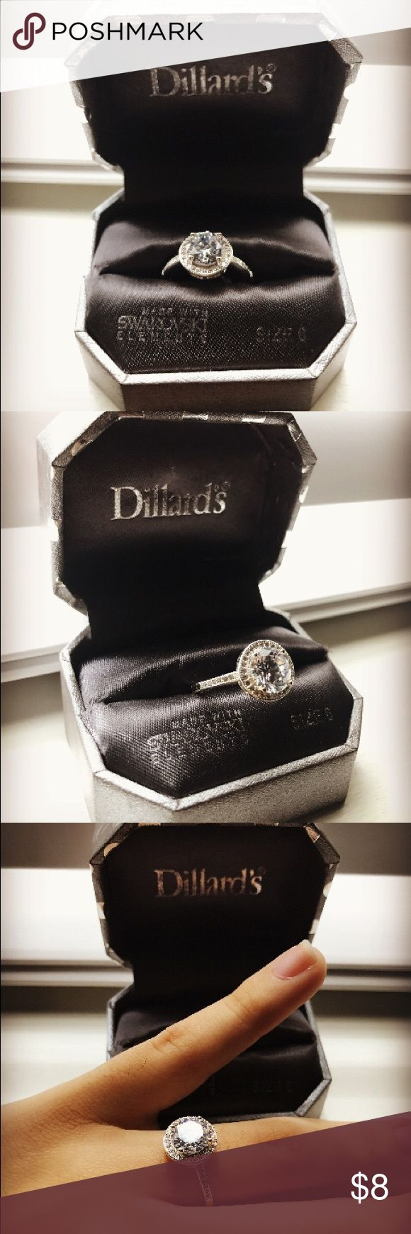 💍Dillard's Boxed Collection Cubic Zirconia Ring💍 NWT made with Swarovski Elements Dillards Collection Jewelry Rings