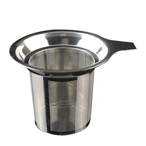 Leocell (304) Stainless Steel Reusable Drip Reusable Coffee Filter and Single Cup Coffee Maker