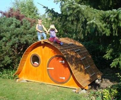 this could be an awesome play house - there could be a slide going down one side and various ways to climb up the other sides