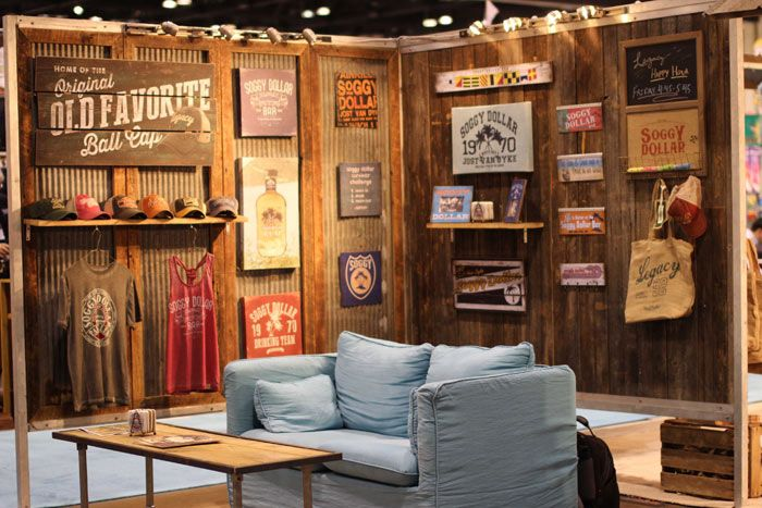 Legacy a maker of apparel headwear and home decor surrounded its booth with barn wood planks - Expo home design idea ...