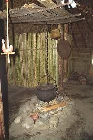 Ruca Mapuche interior.