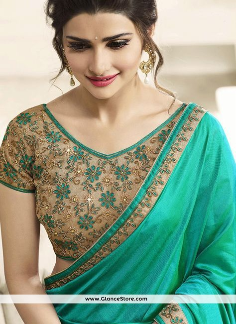 Exotic Embroidered Work Prachi Desai Classic Designer Saree