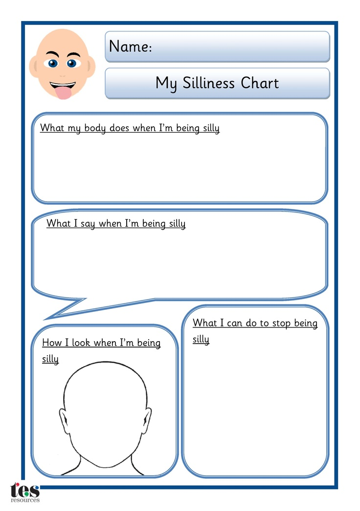 Simple sheet that can be worked through with a pupil to help identify what happens when they are being silly and what they can do to calm down. Two styles of sheets available: one with the addition of a body shape for drawing on. Both sheets available in 2 different skin tones.