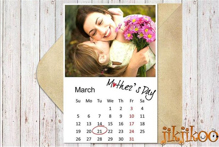 Personalized Mothers Day Photo Card. Mother's Day Calendar Card  (MDC30)
