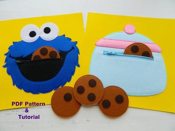 Quiet Book Pdf Pattern 2 Pages Cat Fishing Of Felt For Etsy