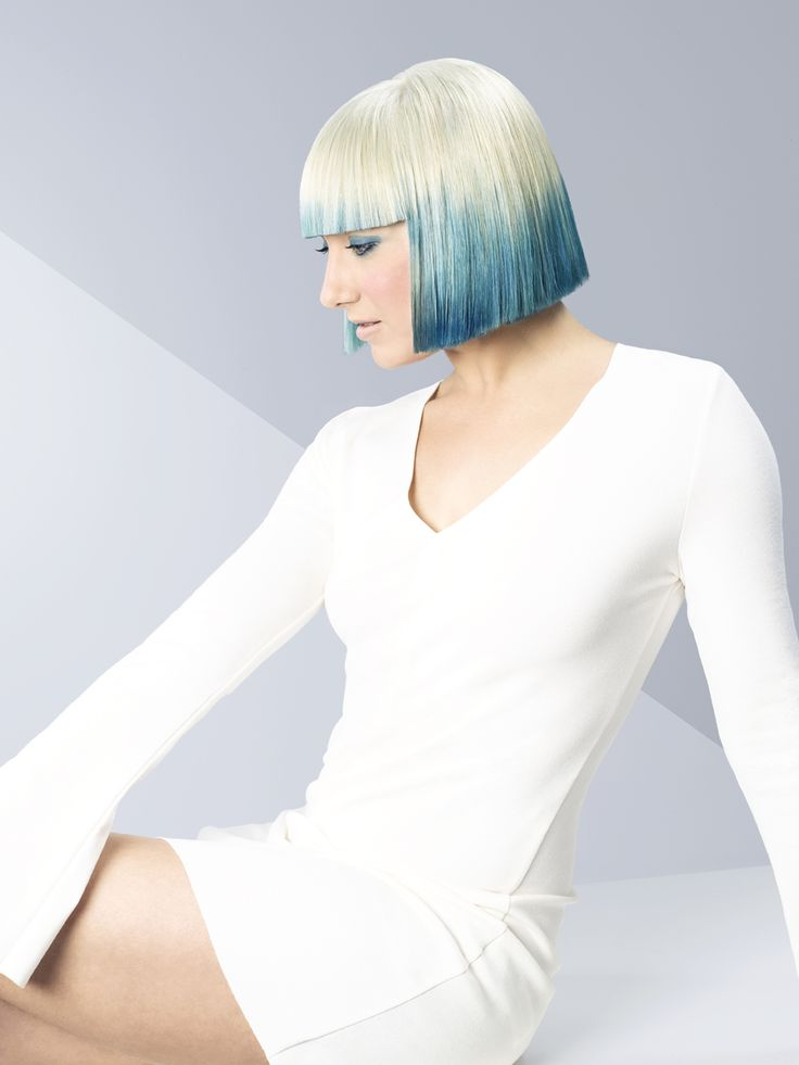 Erayba Hair Style Collection: COLOR FLOW. Blue Pyramid. Dare to be a trendsetter.