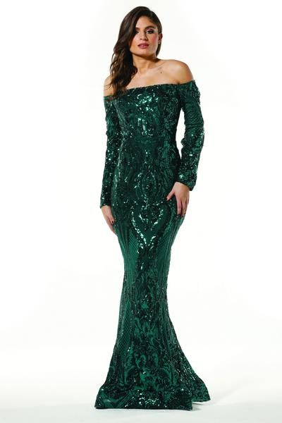 cf93c8554a9 Buy Tinaholy Couture T1866 Emerald Green Sequin Off Shoulder Formal Gown  Designer Formal Dresses Collection online One Honey Boutique Australian  Stockist.
