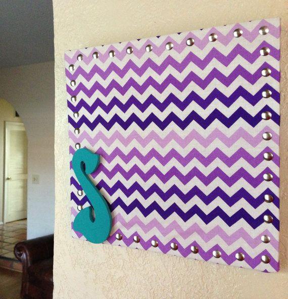 Personalized chevron corkboard!