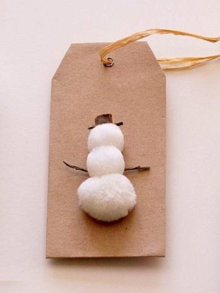 Snow man tag