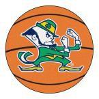 Ncaa Notre Dame Fighting Irish Logo Orange 2 ft. 3 in. x 2 ft. 3 in. Round Accent Rug