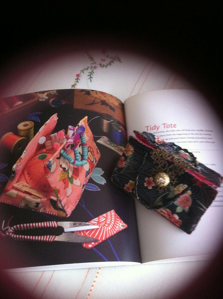 Tidy Tote from instructions in Kumiko Sudo's book - Kokoro no Te
