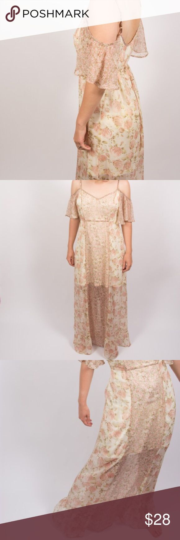Band of Gypsies floral sheer dress Band of Gypsies Floral sheer dress. Sheer from knees to feet. A flowery dress that flows as you move. Gently used from non- smoking home. Band of Gypsies Dresses Maxi