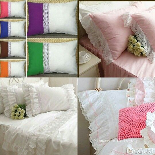 Sarung bantal renda