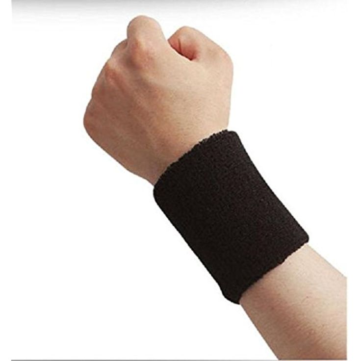 Kagogo 4 Inch Cotton Sports Wristband / Sweatband For Basketball Tennis And Other Sports, Price/Pair * For more information, visit image link. (This is an affiliate link) #Accessories