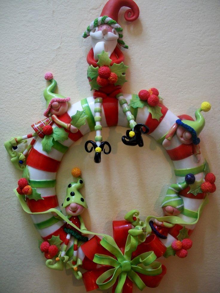 652 best ideas navidad images on pinterest for Coronas de navidad
