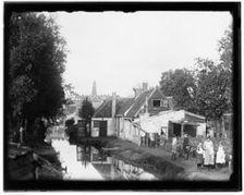Bilderdijkpark · 1891 Bilderdijkpark.Gezien naar Raampoort, Marnixstraat. Op de achtergrond: Westertoren.