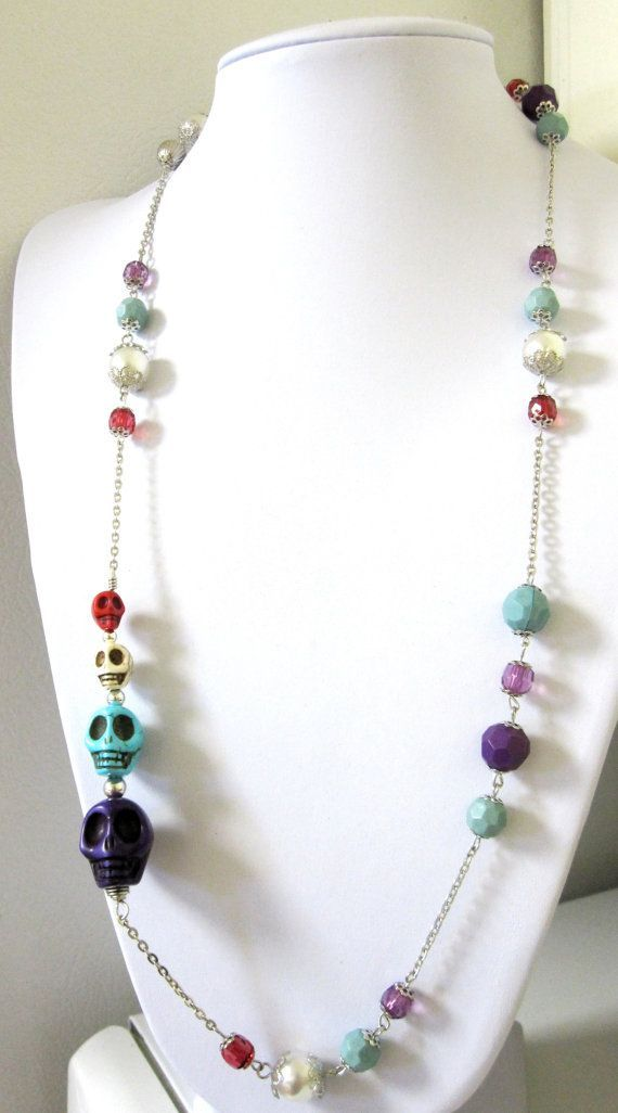 simple skull bead necklace