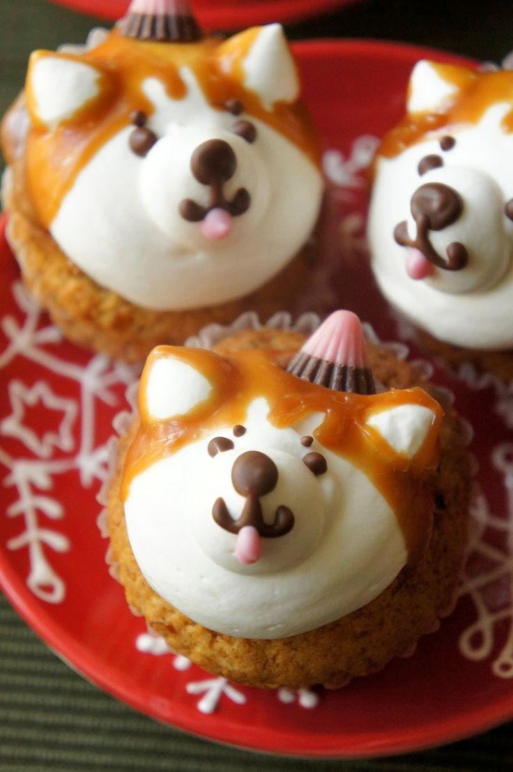 秋田犬サンタのクリスマスカップケーキ☆ by オマールえび子 [クックパッド] 簡単おいしいみんなのレシピが224万品