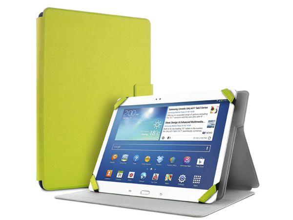 """Θήκη PURO BOOKLET με σύστημα STAND UP, ELASTIC BAND kaqi με μαγνητικό κάλυμμα για Tablets με διάμετρο οθόνης έως 10.1"""" λαχανί χρώμα  fashion case tablet accessories yellow lime"""