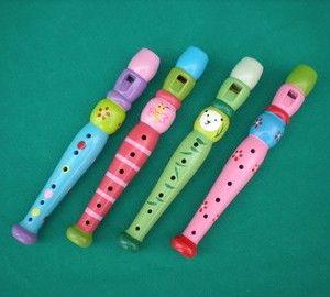 Flautas de madera.