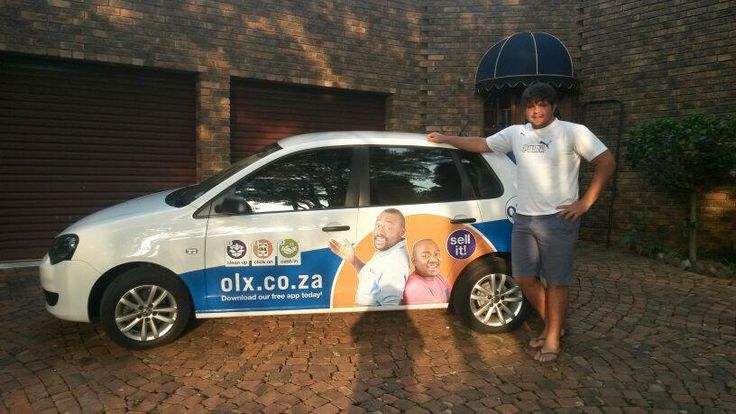Jovan thinks the olx branding looks great on his car
