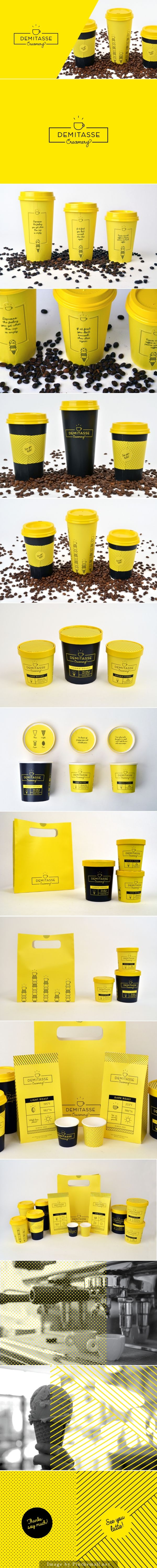 Student: Did I miss this Demitasse Creamery #identity #packaging #branding PD