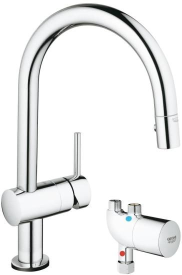 grohe minta kitchen faucet with touch technology plumbing fixtures rh pinterest com