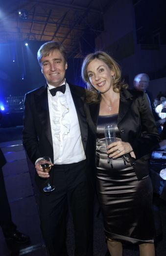 La Disco Du #Cirque Ball, #Trust Stadium, L to R,Stephen Lowe and Katherine Pearce