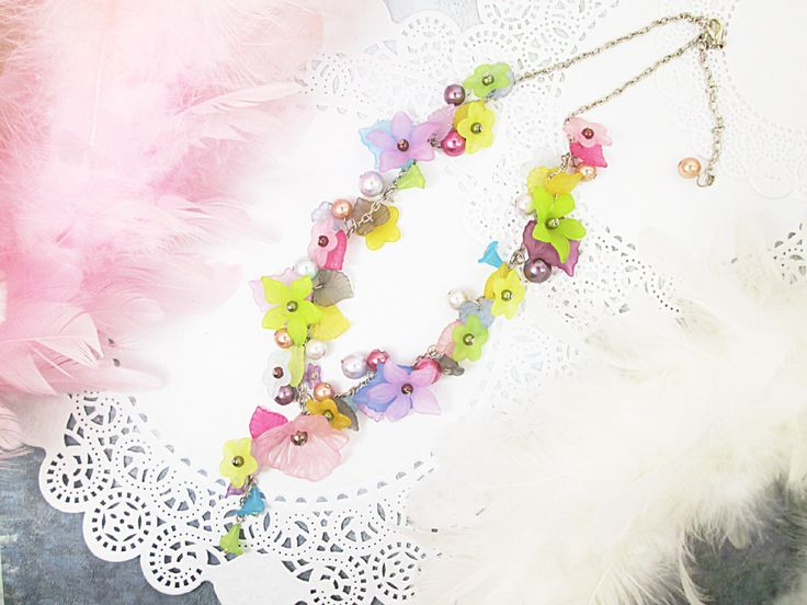 A personal favorite from my Etsy shop https://www.etsy.com/ca/listing/239680516/fairy-garden-cluster-necklace-colorful