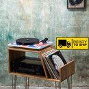 """Vinyl Record storage, hergestellt aus hochwertiger massiver Eiche, mit Haarnadel Beinen. Dieser Datensatz Kabinett 29"""" Lang x 15"""" Tiefes x 27"""" Hoch und ist ideal für die Speicherung von..."""
