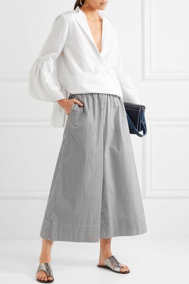 Tibi - Cotton-poplin Tunic - White